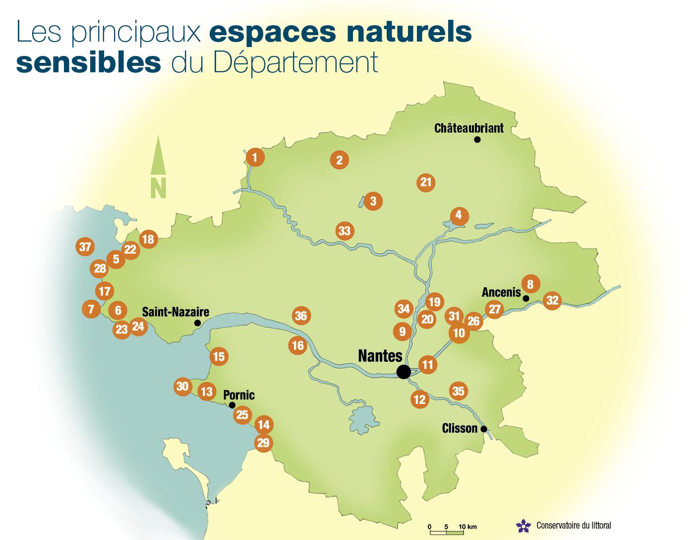 Carte Loire Atlantique.Carte Des Espaces Naturels Accueil De Rubrique